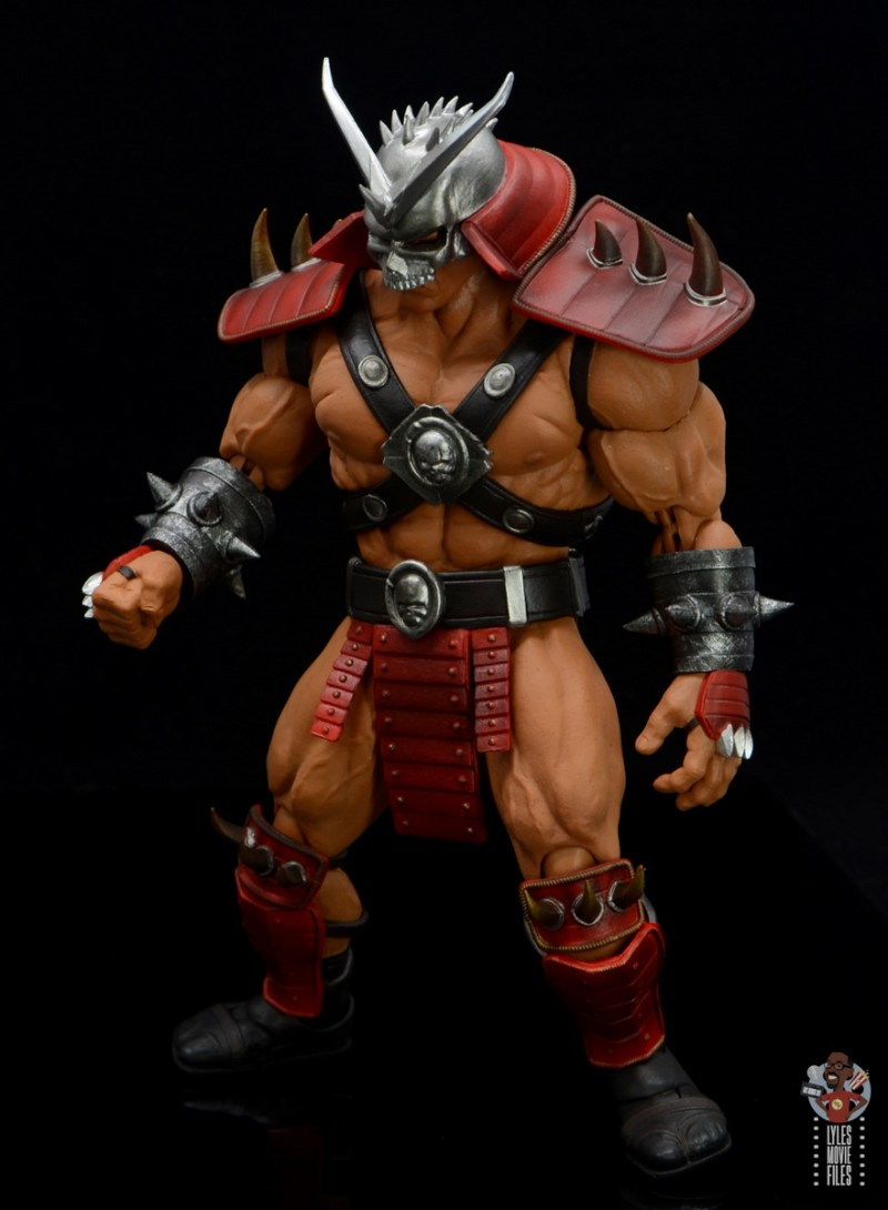 storm collectibles mortal kombat shao khan figure review - crouching left