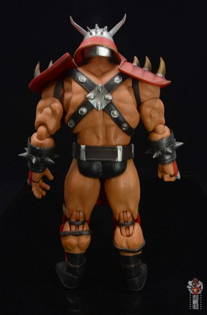 storm collectibles mortal kombat shao khan figure review - rear