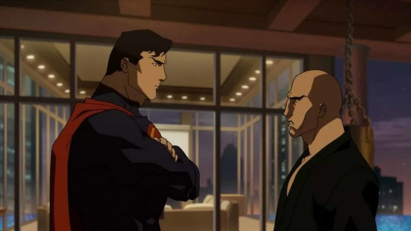 the death of superman movie review - superman and lex luthor