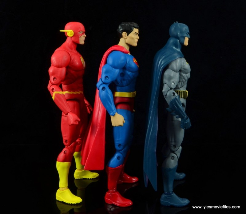 dc essentials superman review - scale with flash and batman