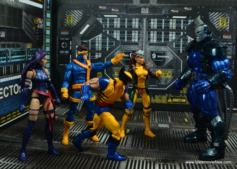 marvel legends baf apocalypse figure review -facing off with the x-men