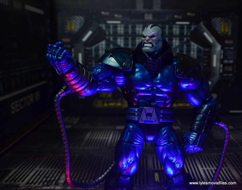 marvel legends baf apocalypse figure review -raising arm