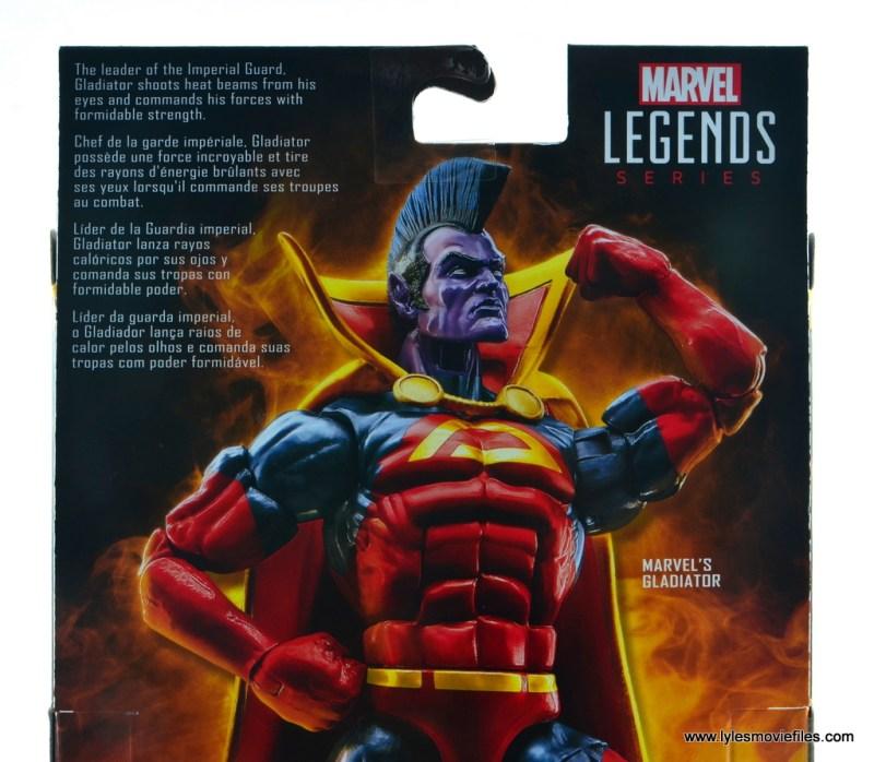 marvel legends gladiator figure review - package bio