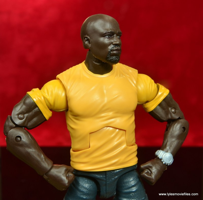 marvel legends luke cage and claire figure review - cage hands on hips