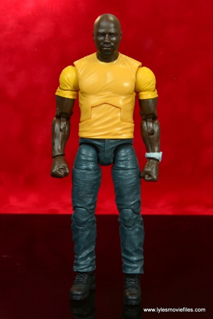 marvel legends luke cage and claire figure review -luke cage front