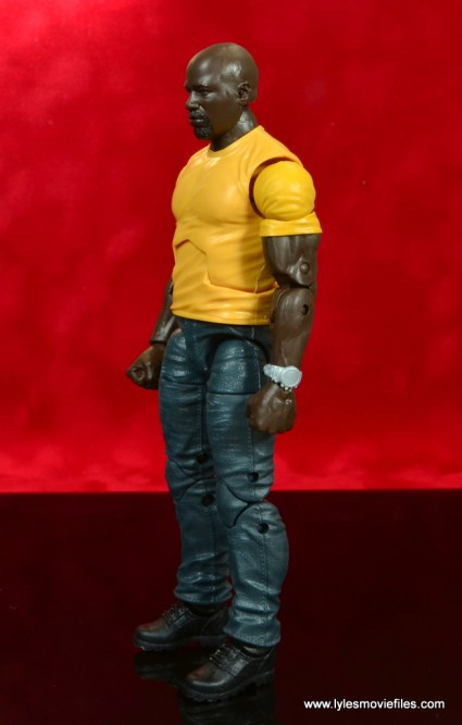 marvel legends luke cage and claire figure review -luke cage left side