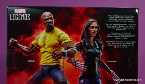marvel legends luke cage and claire figure review -package bio