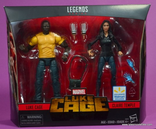 marvel legends luke cage and claire figure review -package front