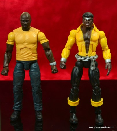marvel legends luke cage and claire figure review -with toy biz power man