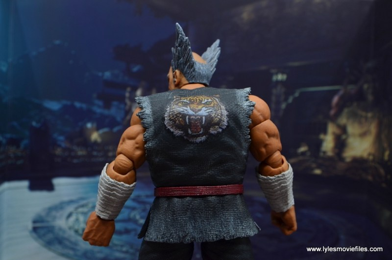 Storm Collectibles Heihachi Mishima figure review -backdrop back