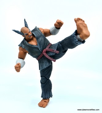 Storm Collectibles Heihachi Mishima figure review -straight kick