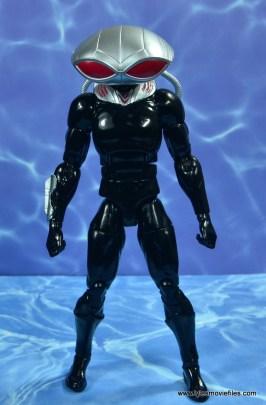 dc essentials black manta figure review - front