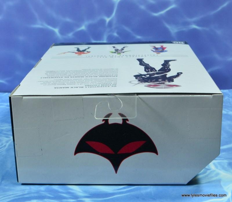 dc essentials black manta figure review -package top