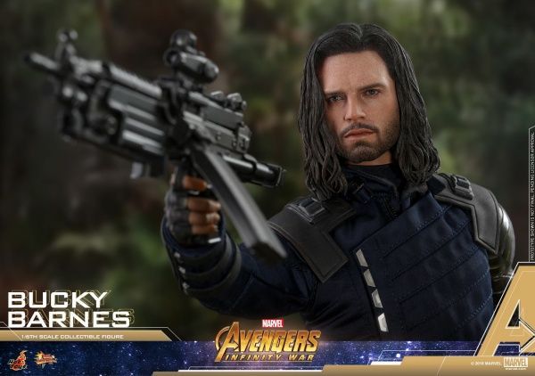 hot toys avengers infinity war bucky barnes figure -taking aim