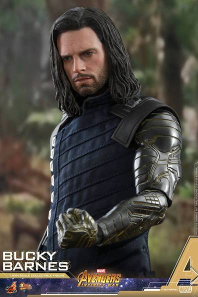 hot toys avengers infinity war bucky barnes figure -vibranium arm close up