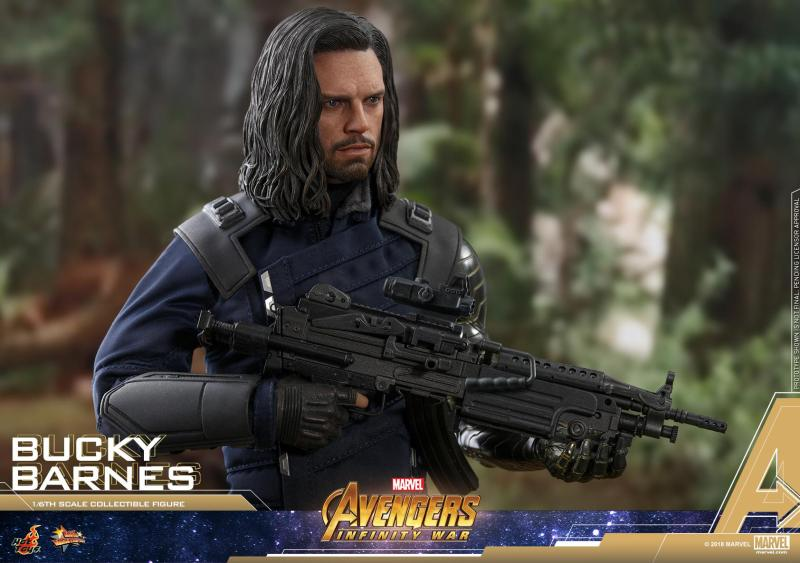 hot toys avengers infinity war bucky barnes figure -wide shot