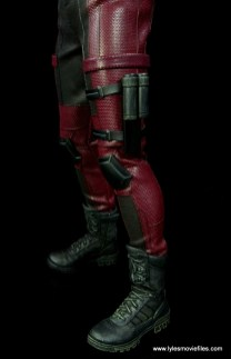 hot toys daredevil figure review - boot and holster detail