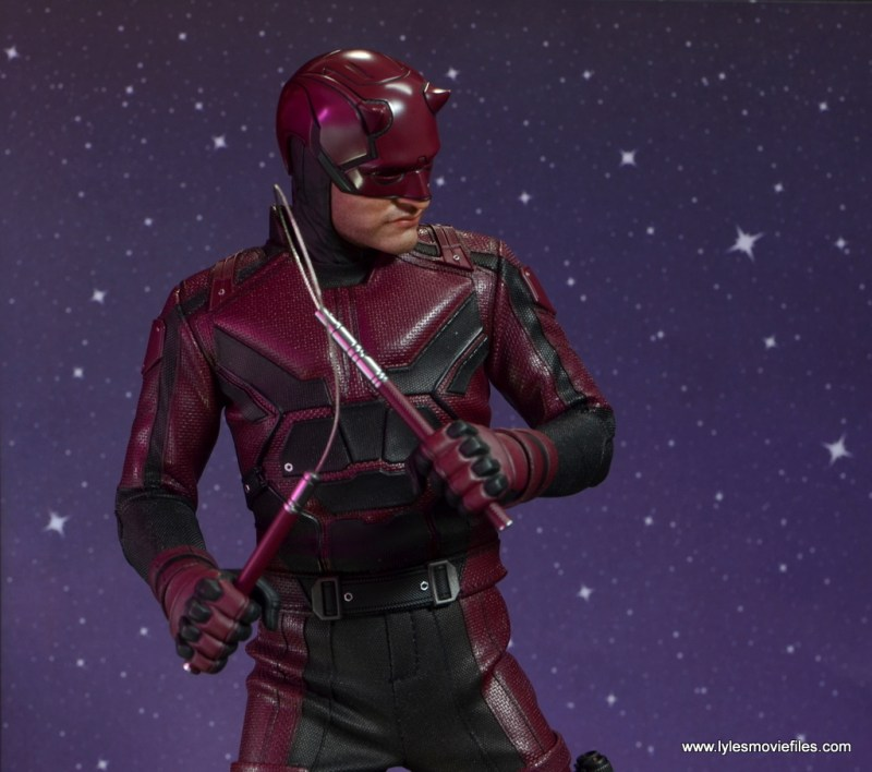 hot toys daredevil figure review - with nunchuks ready