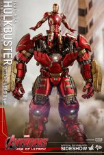 hot toys hulkbuster iron man deluxe version figure - with age of ultron iron man armor landing