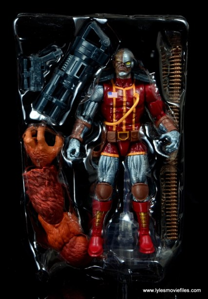 marvel legends deathlok figure review - figure in tray