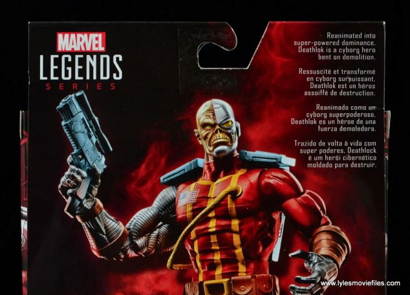 marvel legends deathlok figure review - package bio