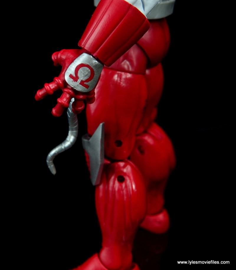 marvel legends omega red figure review - gauntlet detail