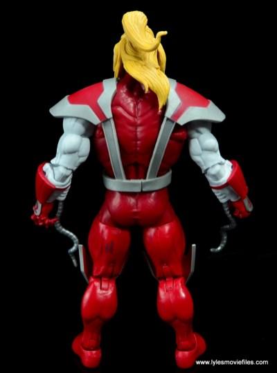 marvel legends omega red figure review - rear