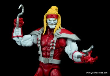 marvel legends omega red figure review - small tendrils detail