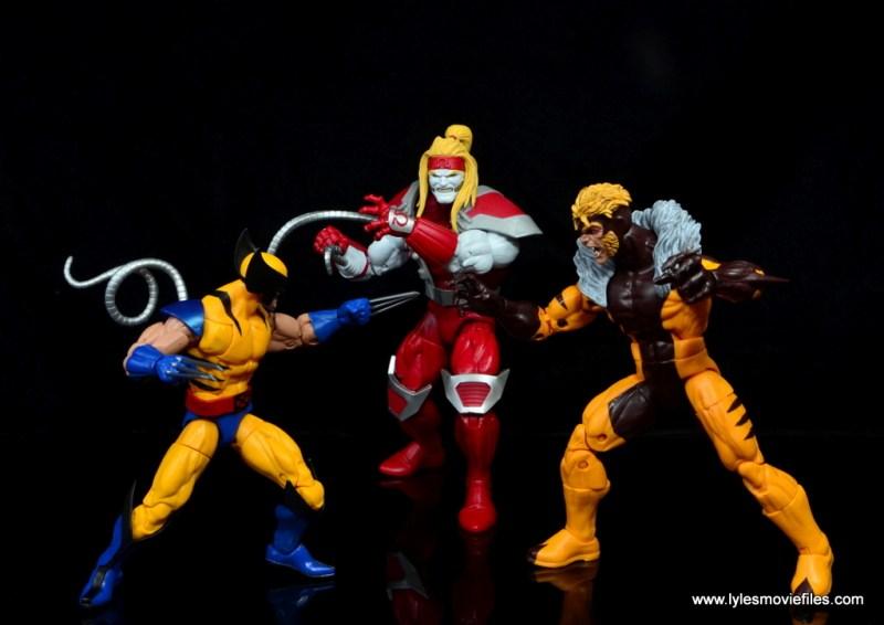 marvel legends omega red figure review - vs wolverine and sabretooth