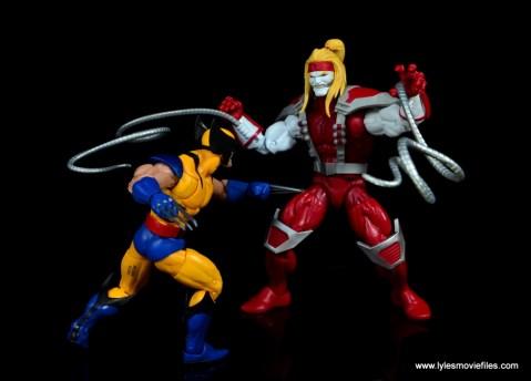 marvel legends omega red figure review - vs wolverine