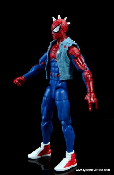 marvel legends spider-punk figure review - left side