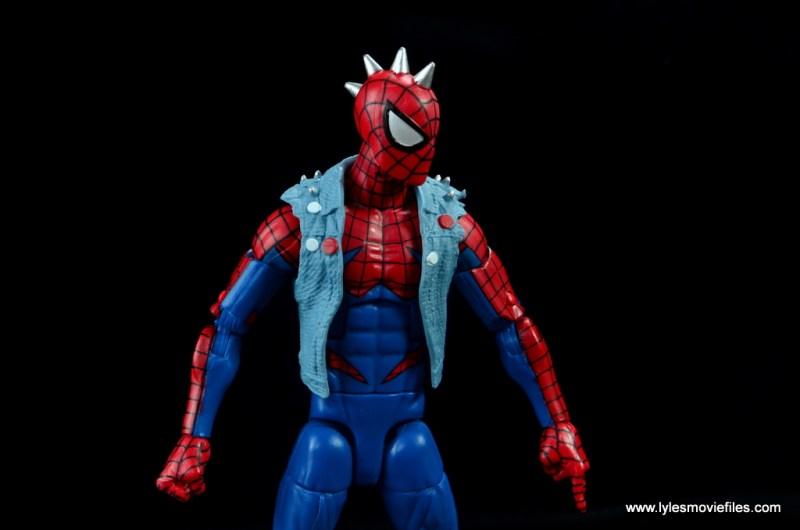 marvel legends spider-punk figure review - spike detail