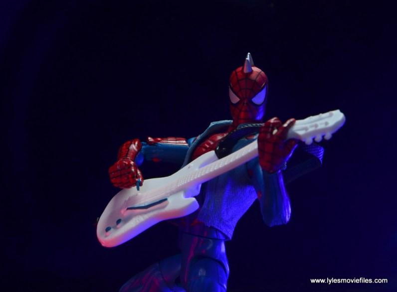 marvel legends spider-punk figure review - strumming