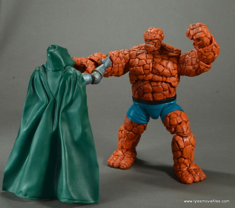 marvel legends the thing figure review - vs doctor doom