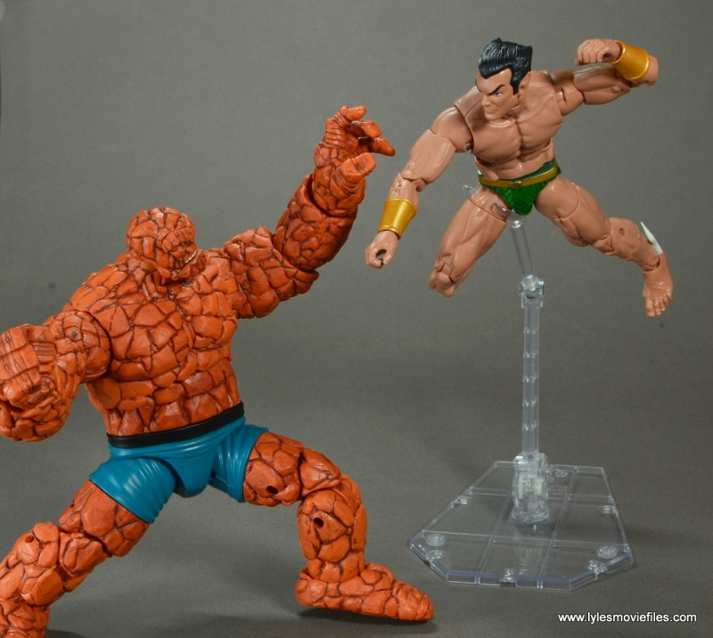 marvel legends the thing figure review - vs namor