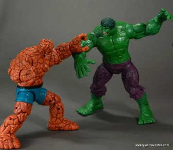 marvel legends the thing figure review - vs the hulk