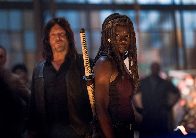 the walking dead a new beginning review - daryl and michonne