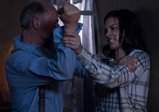 the walking dead a new beginning review -gregory attacks maggie