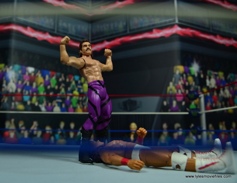 WWE Flashback Basic Rick Rude figure review - posing over tito