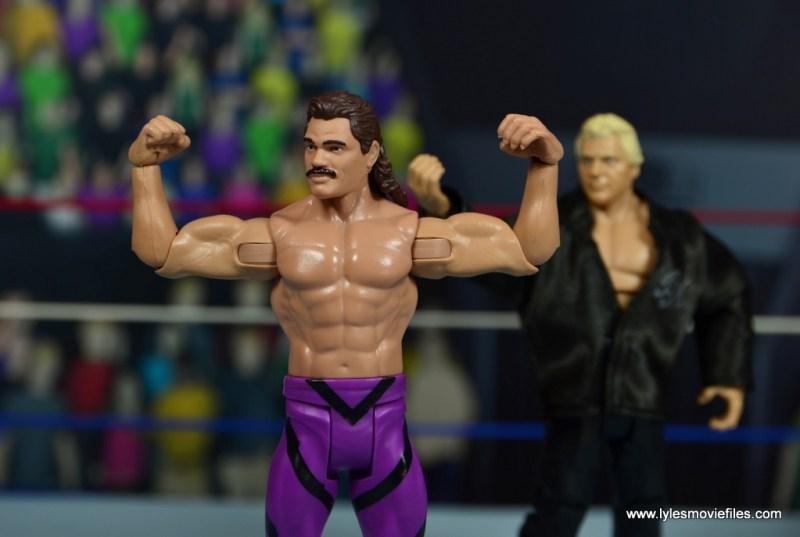 WWE Flashback Basic Rick Rude figure review - posing with Brain