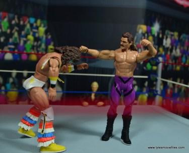 WWE Flashback Basic Rick Rude figure review - punching ultimate warrior