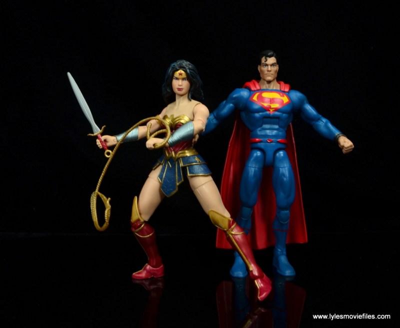 dc multiverse wonder woman figure review -fighting alongside superman