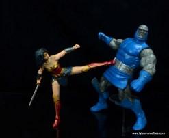 dc multiverse wonder woman figure review -kicking darkseid