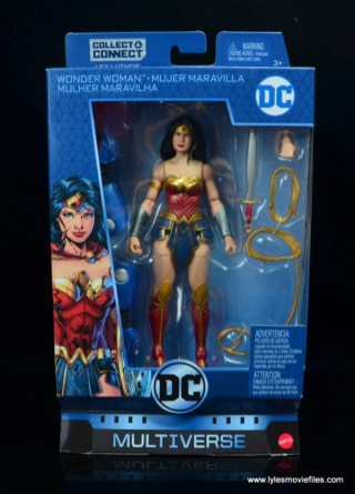 dc multiverse wonder woman figure review - package front