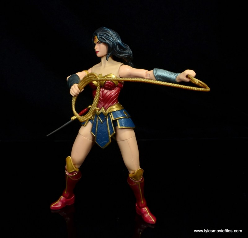 dc multiverse wonder woman figure review - with wide lasso