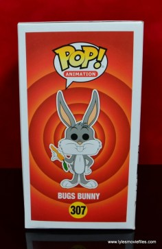 funko pop bugs bunny figure review - package left side