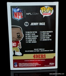funko pop jerry rice figure review -package rear