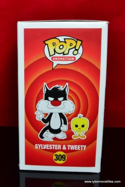 funko pop sylvester and tweety figure review -package left side