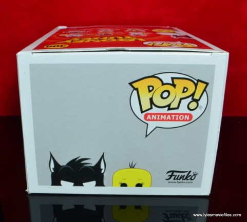 funko pop sylvester and tweety figure review -package top