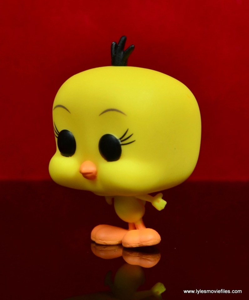 funko pop sylvester and tweety figure review -tweety left side